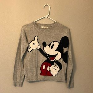 kids sweater with mickey mouse on it